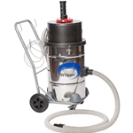 Boiler Soot Vacuum Cleaner, 15-Gallon, 2HP, Dolly-Mounted